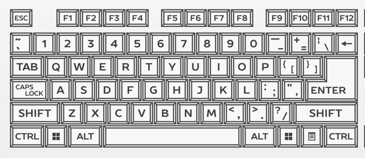 英語配列104キーボード