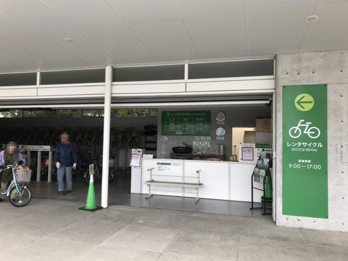 レンタサイクルの施設