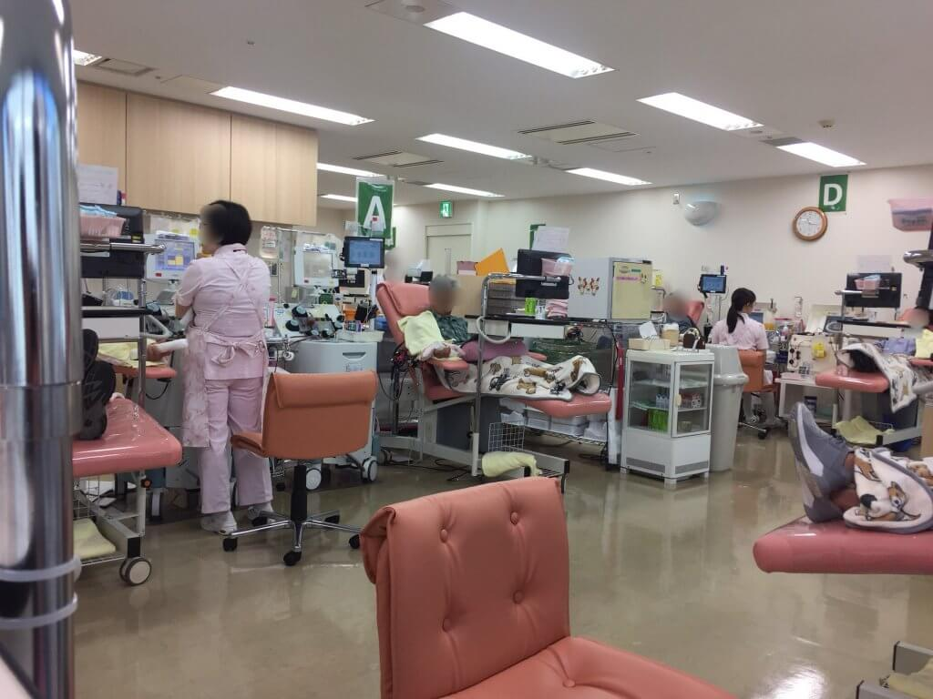 献血スペースの様子