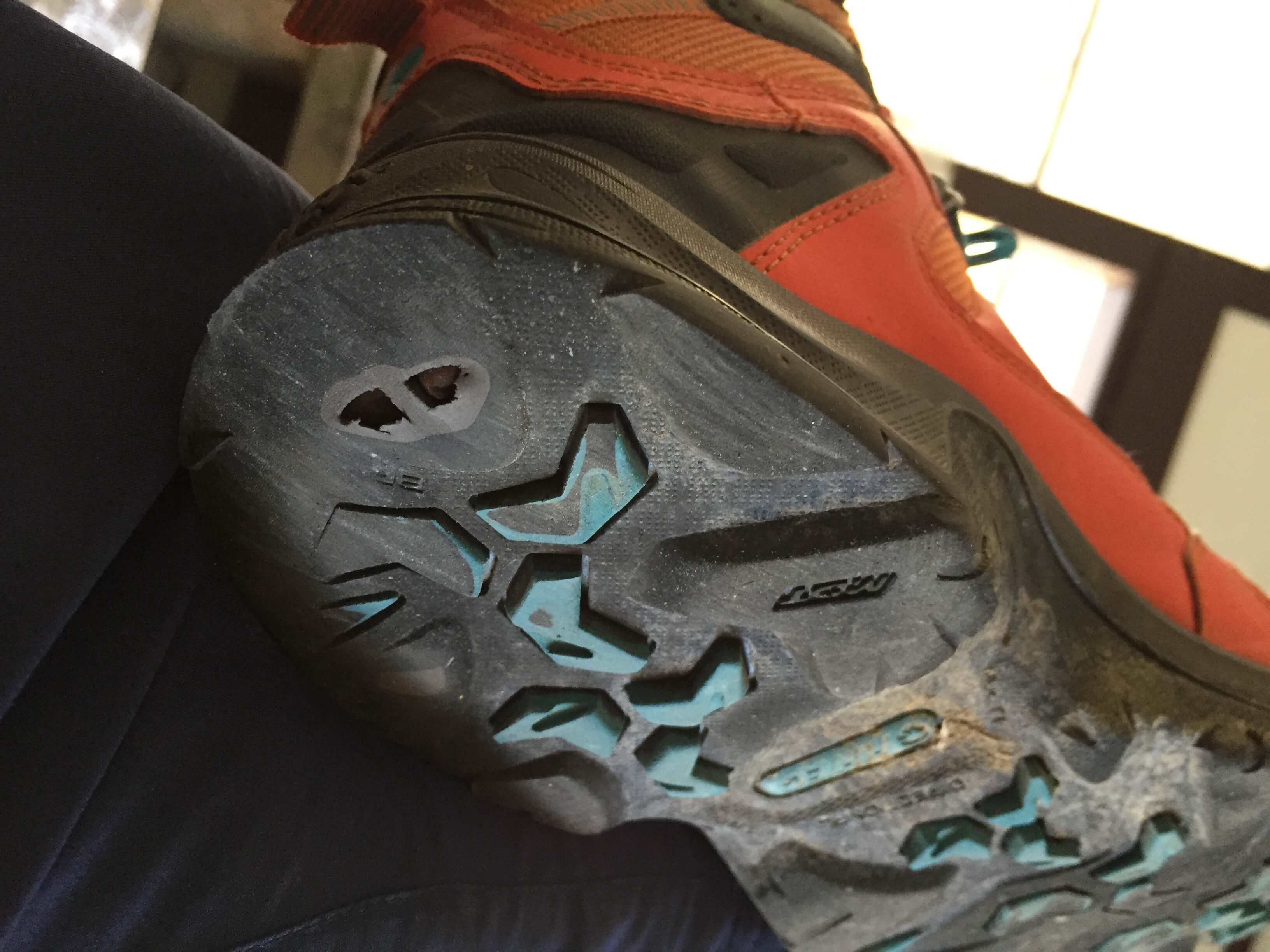 歩き遍路で靴底に穴があいた