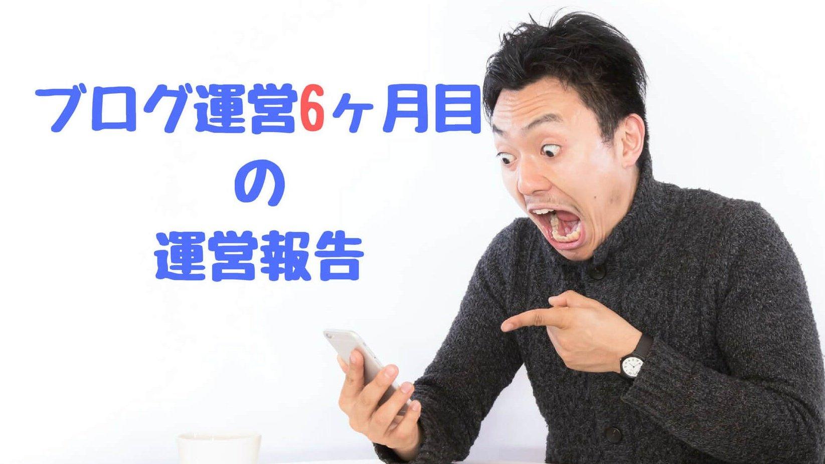 【ブログ6ヶ月目の運営報告】ついに月間1万PVキター!