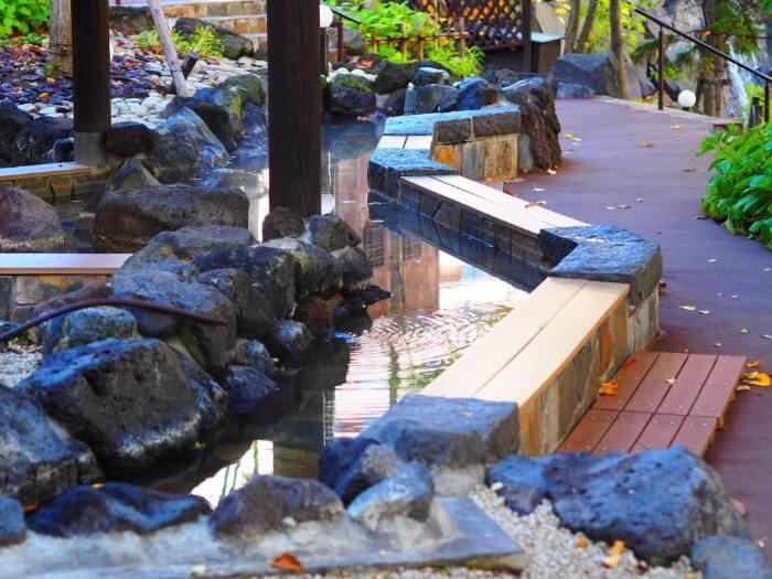 定山渓の足湯