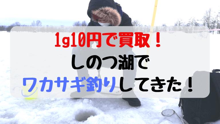 1g10円買取のしのつ湖でワカサギ釣りしたらOO円で買い取ってもらえた