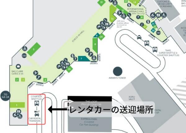 クライストチャーチ空港の地図