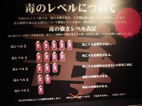 札幌PARCO(パルコ)で開催中の猛毒展2019の毒レベルについて