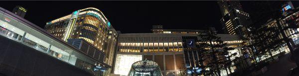 パノラマ撮影で撮った札幌駅