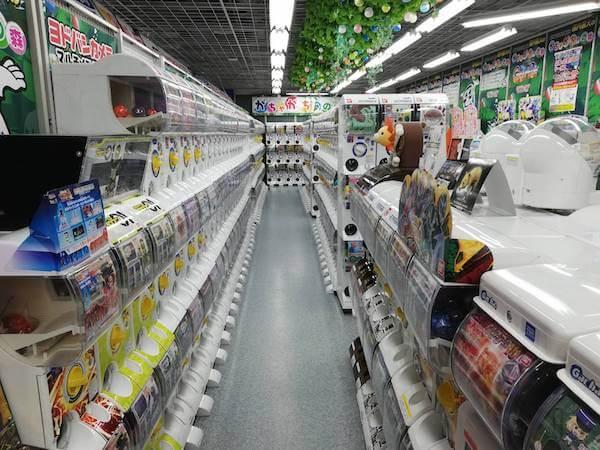 ヨドバシカメラ札幌店のガチャガチャコーナー