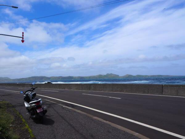 礼文島のレンタルバイク