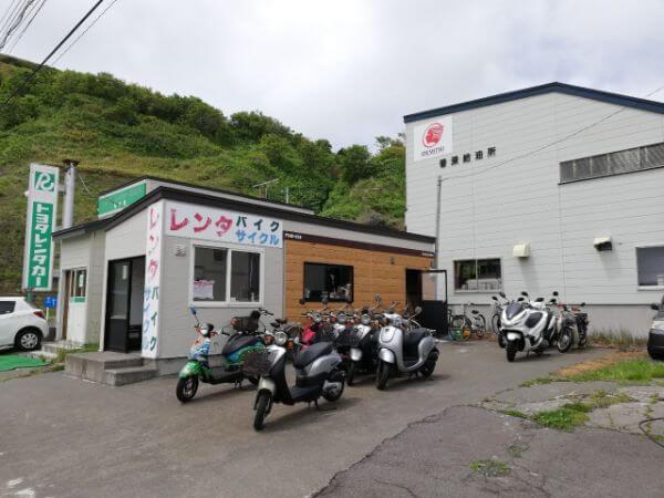 礼文島のレンタルバイク屋「catrock」の外観