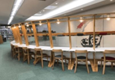 札幌中央図書館の閲覧席