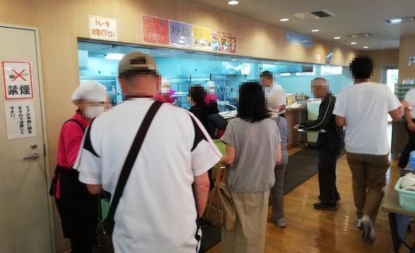 ポリテクセンター北海道の食堂内の様子