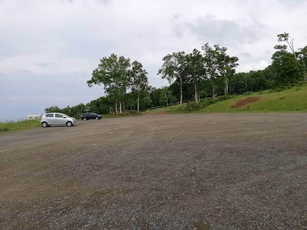 小樽天狗山の駐車場