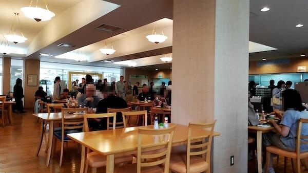 ポリテクセンター北海道の食堂の混み具合