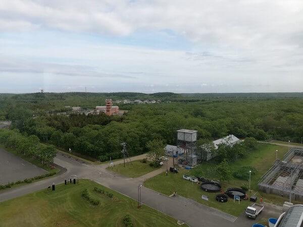 標津サーモン科学館の展望台からの眺め