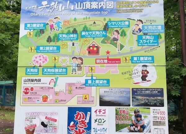 天狗山の案内図