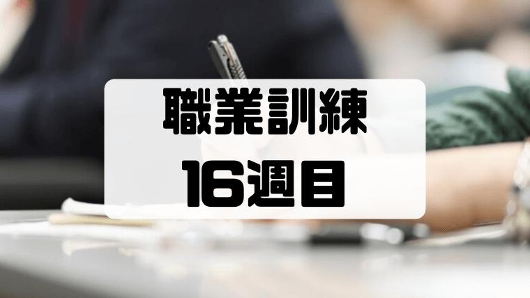 【職業訓練16週目】2回目のキャリアコンサルティングと4回目のテスト