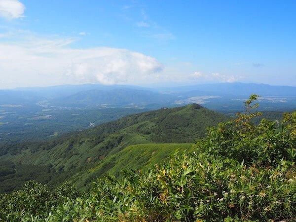 ニセコアンヌプリの登山道からの景色