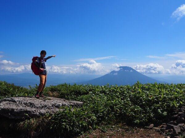 ニセコアンヌプリの山頂からの羊蹄山