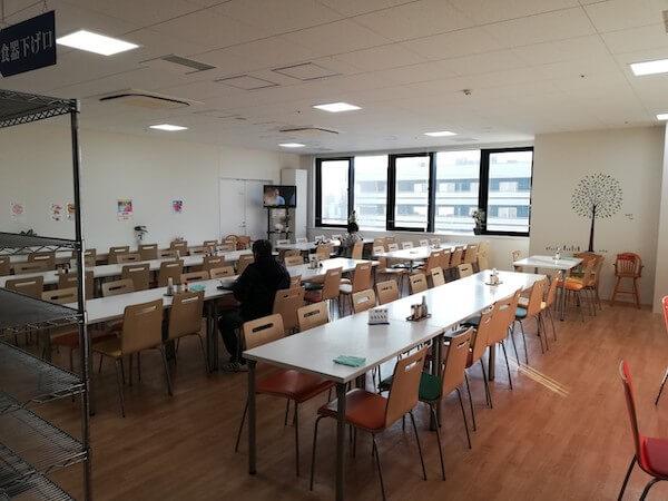 白石区役所の食堂