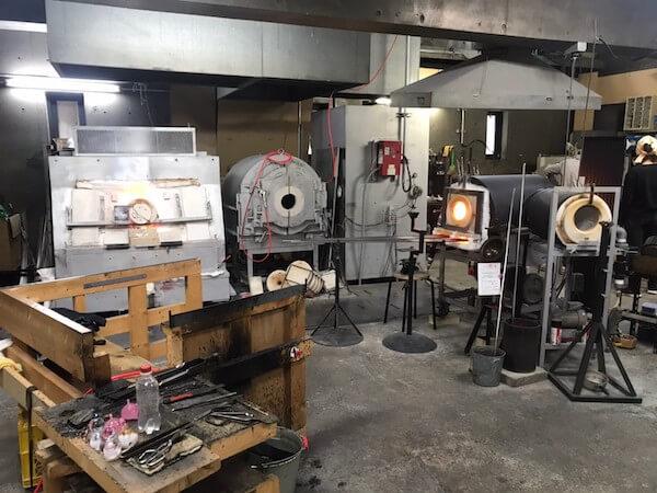 吹きガラスを体験したガラス工房「小樽il PONTE(イルポンテ)」の内観