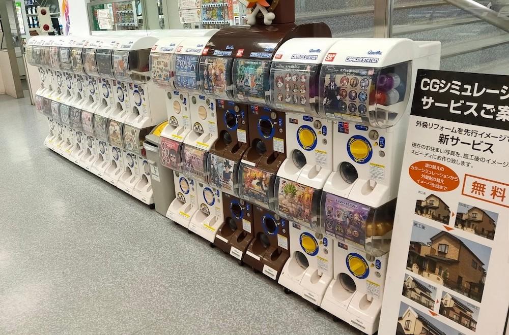 ヤマダ電機テックランド札幌本店にあるガチャガチャコーナー