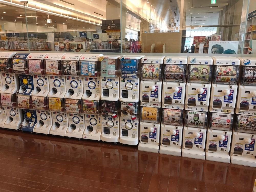 紀伊国屋書店札幌本店にあるガチャガチャコーナー